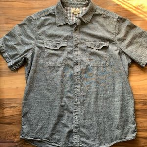 Men's Woolwrich button down short sleeve XL